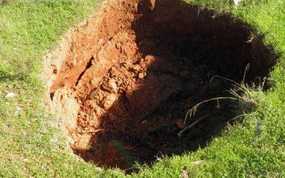 Waar is hier het gat in de grond