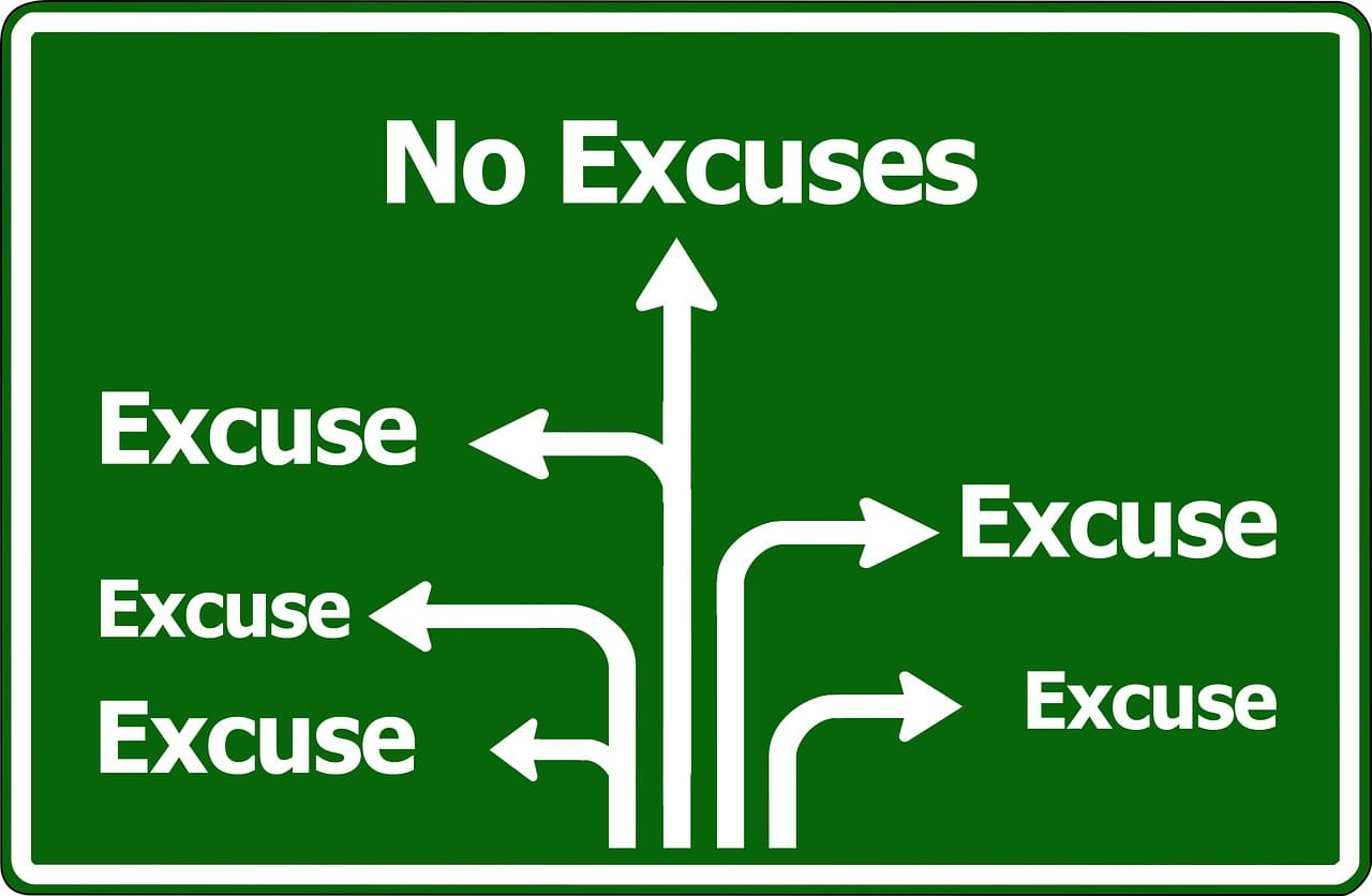 Wat is jouw excuus om niet in actie te komen?